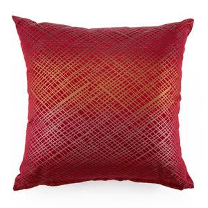 金格緹花抱枕 45x45cm 紅