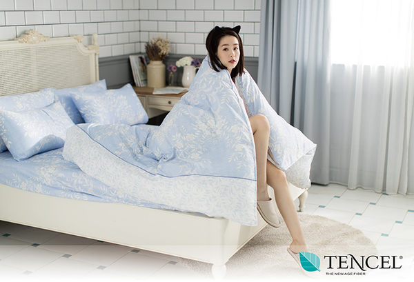 快速出貨【LORIA洛莉亞】超便宜平價天絲TENCEL天絲三件式床包組~加大【輕語~藍】