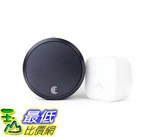 [107美國直購] August Smart Lock Pro + Connect, 3rd gen technology - Dark Gray, works with Alexa