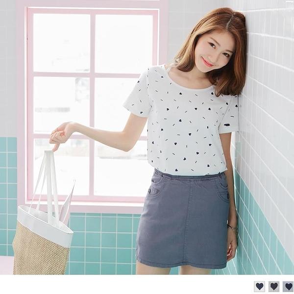 《AB3599-》愛心圖案美背設計高含棉T恤/上衣 --適 S~L OB嚴選