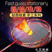 羽毛球拍 羽毛球拍2支單雙拍碳素家庭學生訓練輕質進攻型羽毛球拍 小艾時尚 igo