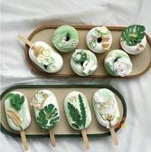 仿真模型 網紅甜甜圈 食物拍照道具雪糕冰棍蛋糕模型 綠色仿真蛋糕