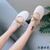 豆豆鞋女系奶奶鞋平底芭蕾單鞋