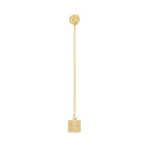 CINCO  925純銀鍍24K金雕花玫瑰垂墜項鍊 DYLAN NECKLACE