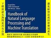 二手書博民逛書店Handbook罕見Of Natural Language Processing And Machine Tran
