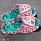 按摩拖鞋 穴位磁療按摩拖鞋男女防滑鞋保健足底腳底鵝卵石按摩鞋春夏季 夢露時尚女裝