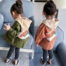 女童風衣秋裝新款兒童寶寶外套長款5春秋中小童上衣1-2-3歲4【韓衣舍】