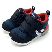 《7+1童鞋》小童 日本月星 MOONSTAR 透氣網布 機能鞋 運動鞋 學步鞋 C457 藍色