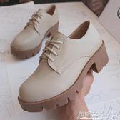 娃娃鞋 2018新款粗跟英倫風女鞋學院風學生ulzzang中跟軟妹小皮鞋女 小宅女