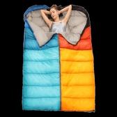 睡袋 探險者睡袋大人戶外露營成人冬季加厚單人旅行保暖防寒室內機洗 夢藝