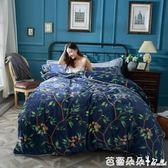 被套 床上保暖金貂絨四件套加厚冬季法蘭絨法萊絨珊瑚絨1.8m床【芭蕾朵朵】IGO