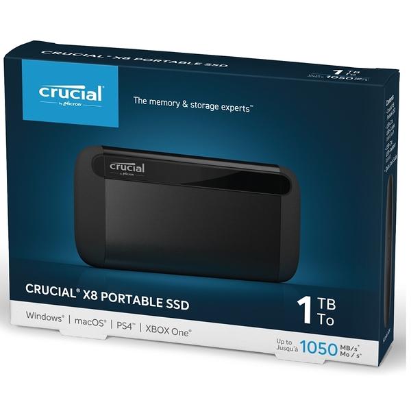 美光 Micron Crucial X8 1TB 外接式 SSD 1T USB Type-C