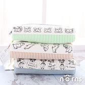 【日貨正反雙層筆袋 迪士尼】Norns 日本進口正版 雙隔層鉛筆盒 文具收納包 三眼怪 奇奇蒂蒂 米奇