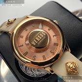 VERSUS VERSACE凡賽斯女錶40mm粉金錶面米白錶帶