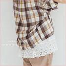 背心  簍空刺繡肩帶棉麻襯衣.細肩帶上衣  二色-小C館日系