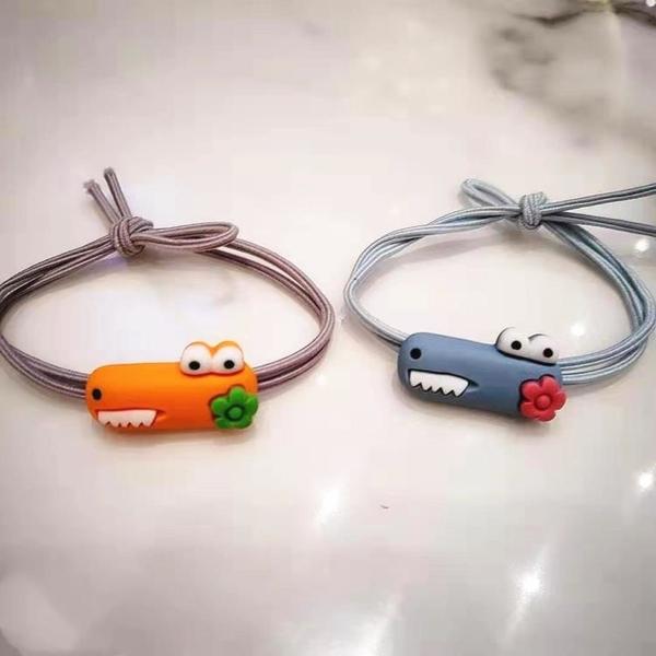 發圈 頭繩女可愛小動物頭繩兒童發圈發繩學生扎頭發橡皮筋透明小鱷魚發飾 顏色隨機發YL依品國際