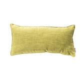 HOLA 素色拼色滾邊抱枕30x60cm 草綠