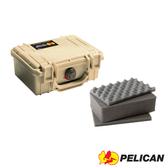 美國 PELICAN 派力肯 塘鵝 1120 氣密箱-含泡棉 沙漠黃 公司貨