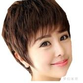 髮絲媽媽假髮女款新款氣質短髮帥氣短卷髮中 老年整髮套 FX6005 【夢幻家居】