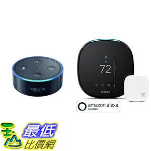 [107美國直購] 智能溫控器 Echo Dot - Black + ecobee4 Smart Thermostat