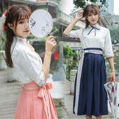 漢風華裳女學生漢服改良夏裝古風長裙 LQ4747『夢幻家居』