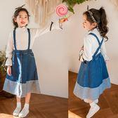 吊帶裙2018新款韓版中大童女童個性休閒牛仔裙 GY1420『寶貝兒童裝』