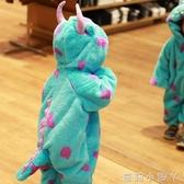 萬圣節兒童服裝毛怪蘇利文連體衣cos服寶寶動物造型衣服恐龍睡衣 蘿莉新品