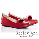 ★零碼出清★Keeley Ann熱銷延續~OL捲心蝴蝶結全真皮莫卡辛鞋(紅色)