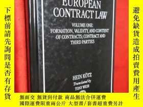 二手書博民逛書店European罕見Contract Law: Volume 1