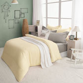 絲光精梳棉 雙人4件組(床包+被套+枕套) 純粹系列-香草餅乾  BUNNY LIFE