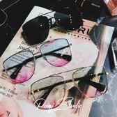 太陽眼鏡 大方框男百搭旅遊海邊淺色墨鏡多彩太陽鏡眼鏡 台北日光
