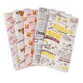 食品包裝吃米 加厚一次性漢堡紙烘焙防油包裝紙雞肉紙面包紙定制 年終尾牙交換禮物