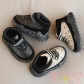 寶寶學步鞋子男女秋冬季軟底加絨短靴棉鞋【聚可愛】