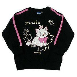 【波克貓哈日網】女童裝長袖刷毛T恤◇瑪莉貓圖案◇《黑色》