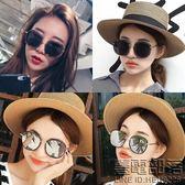 太陽鏡女個性大框網紅墨鏡 韓國圓臉明星款開車偏光眼鏡潮人 (送拉鏈盒)