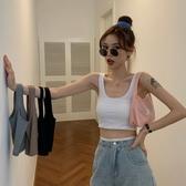 夏季2020新款韓版性感短款露臍修身外穿吊帶小背心女百搭休閒上衣