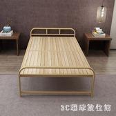 鐵架床 折疊床單人0.8米家用成人木板簡易鐵架硬板出租用房經濟型鋼絲床LB19368【3C環球數位館】