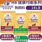 *WANG*Wellness《HB健康均衡系列-小型幼犬|小型成犬|成犬》28磅/包 狗飼料[效期2020/7]