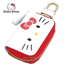 日本限定 三麗鷗 凱蒂貓 HELLO KITTY 掛勾 車用鑰匙 收納包 / 鑰匙包 (紅白款)