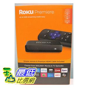 [8美國直購] 多媒體播放器 黑 ROKU PREMIERE 3920R HD and 4K UHD MEDIA STREAMER