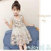 全館83折 女童夏裝連身裙2018新款兒童公主裙韓版中大童夏季小女孩洋氣裙子
