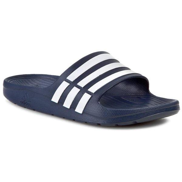 Adidas DURAMO SLIDE 拖鞋 男鞋 女鞋 一體成型 防潑水 沙灘 深藍 【運動世界】 G15892