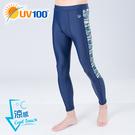 UV100 防曬 抗UV-涼感拼接高彈運動/戲水褲-男