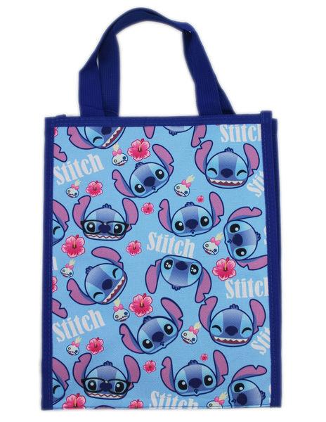 【卡漫城】 Stitch 手提袋 淺藍 滿版 ㊣版 星際寶貝 史迪奇 餐袋 便當袋 手提包 防水 才藝袋 肩背包