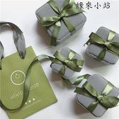 抹茶綠戒指耳釘項鍊包裝禮物品