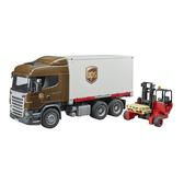BRUDER UPS大型運輸車+叉車_ RU3581