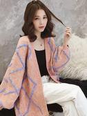毛衣女寬鬆裝慵懶風馬海毛加厚針織開衫外套 糖果時尚