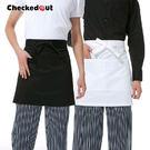 服務員圍裙 半截圍腰美髮店工作服 男女廚師圍裙 6色【YK013】