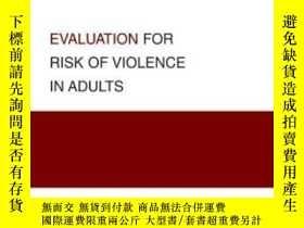 二手書博民逛書店Evaluation罕見For Risk Of Violence In Adults (best Practice