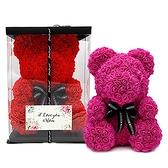 幸福婚禮小物「玫瑰花小熊 熊愛您」玫瑰花/母親節卡片/母親節禮物/活動禮物